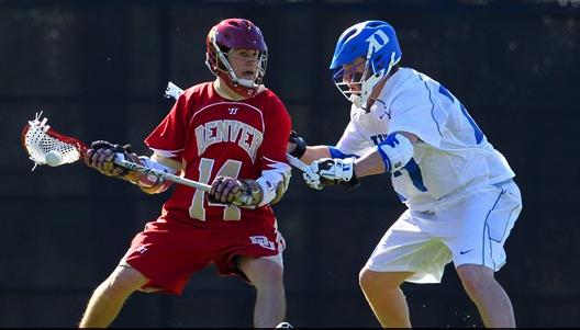 Eric Adamson scored five goals in Denver's 2013 season opener. Courtesy of laxpower.com