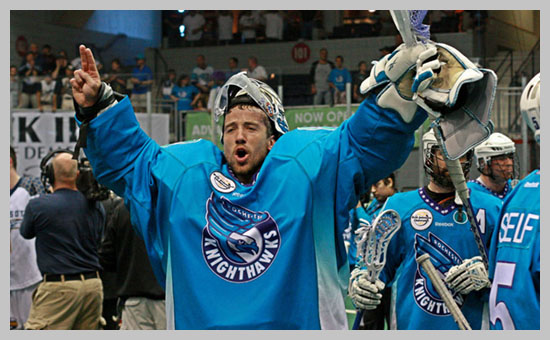 Matt Vinc is having a historic run as the Knighthawks goalie