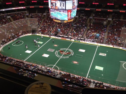 Coverage of 2014 Philadelphia Wings home opener against Rochester