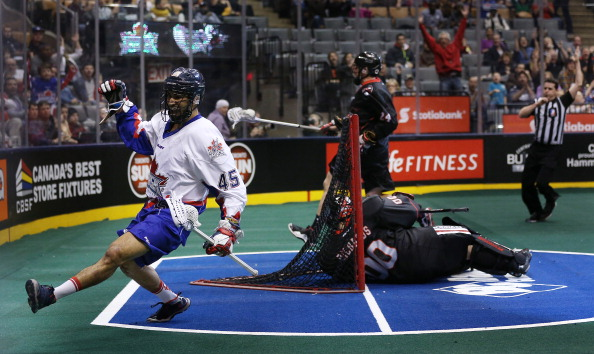 Toronto Rock play the Vancouver Stealth in Major League Lacrosse action