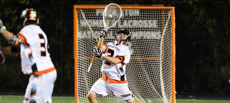 Princeton Tigers goalie Tyler Blaisdell. (Photo credit: Robert Goldstein/Princeton Athletic Communications)
