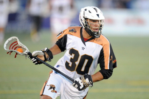 ANNAPOLIS, MD - JULY 17: John Ortolani #30 of the Rochester Rattlers walks with the ball during a Major League Lacrosse game against the Chesapeake Bayhawks on July 17, 2014 at Navy-Marine Corps Memorial Stadium in Annapolis, Maryland. The Rattlers won 10-7. (Photo by Mitchell Layton/Getty Images)