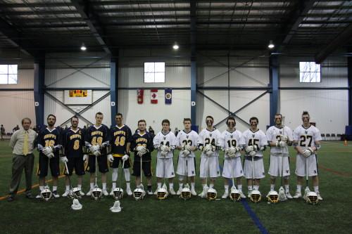 NCAA Lacrosse in Oshawa (March 8, 2016) - Credit Jeramie Bailey-Ontario Lacrosse Association