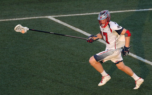 HEMPSTEAD, NY - AUGUST 1: Brodie Merrill #17 of the Boston Cannons against the New York Lizards at James M. Shuart Stadium on August 1, 2015 in Hempstead, New York. (Photo by Adam Hunger/Getty Images)