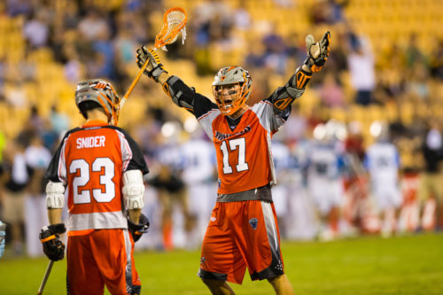 Aug 20, 2016; Kennesaw, GA, USA; Denver Outlaws XXX against the Ohio Machine in the xxx half of the Major League Lacrosse Championship game at Fifth Third Bank Stadium. Mandatory Credit: Brett Davis