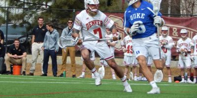 The Denver Pioneers soared over the Duke Blue Devils 14-9 on Saturday, February 18 at Peter Barton Lacrosse Stadium. (Photo credit: Ian Neadle)