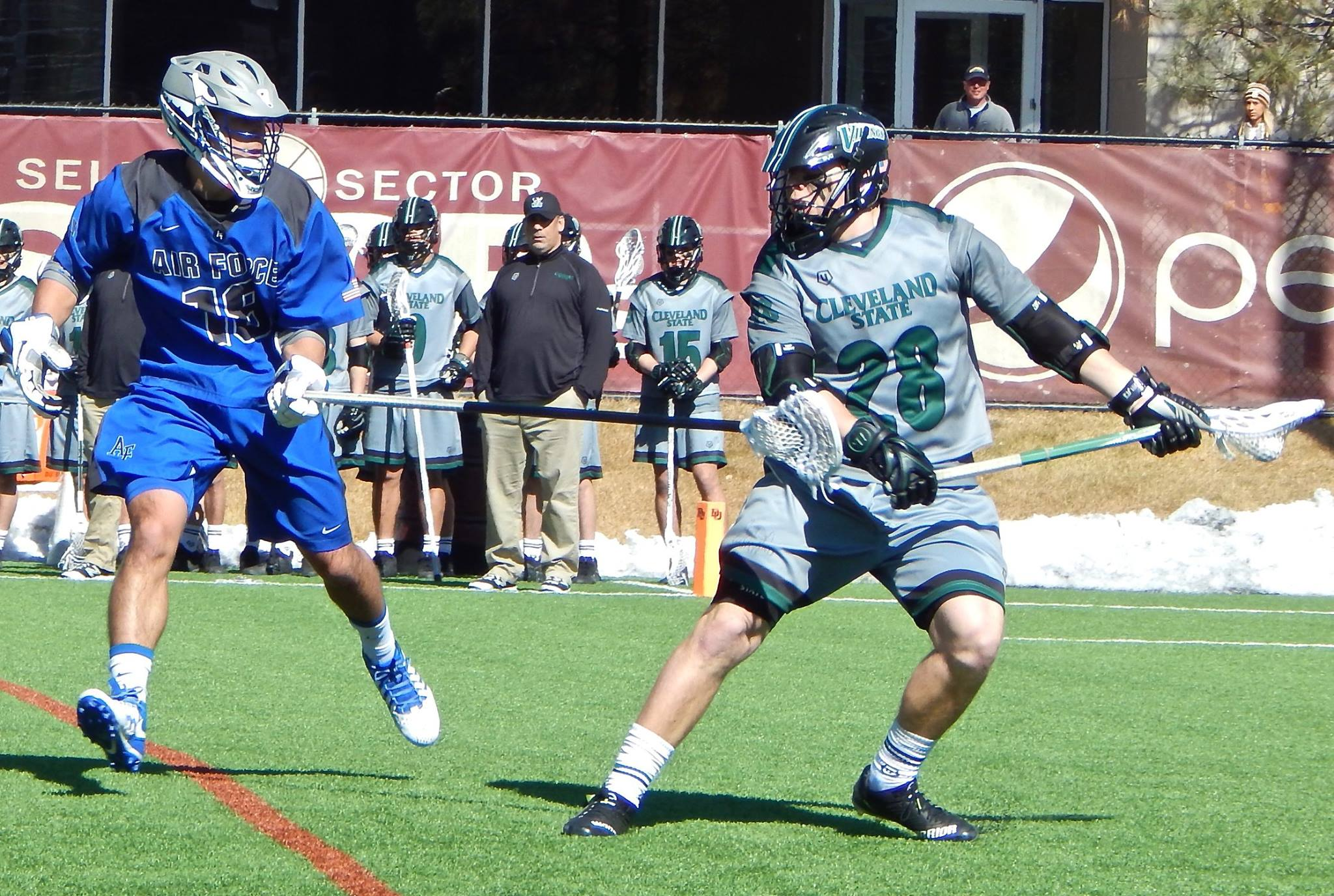 Air Force vs. Cleveland State on Sunday, February 26, 2017 at Peter Barton Lacrosse Stadium. (Photo credit: Ian Neadle)