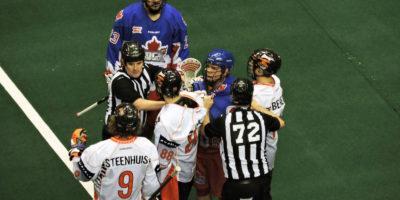Buffalo Bandits vs. Toronto Rock at the Air Canada Centre on February 3, 2017. (Photo credit: Anna Taylor)