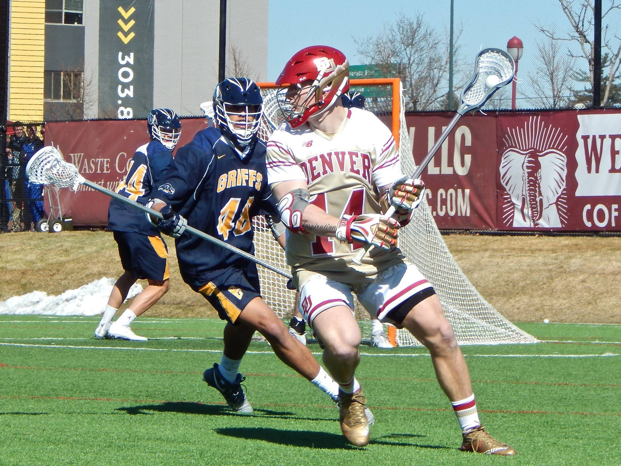 Jeremy Bosher of the Denver Pioneers vs Canisius Golden Griffins (Photo credit: Ian Neadle)