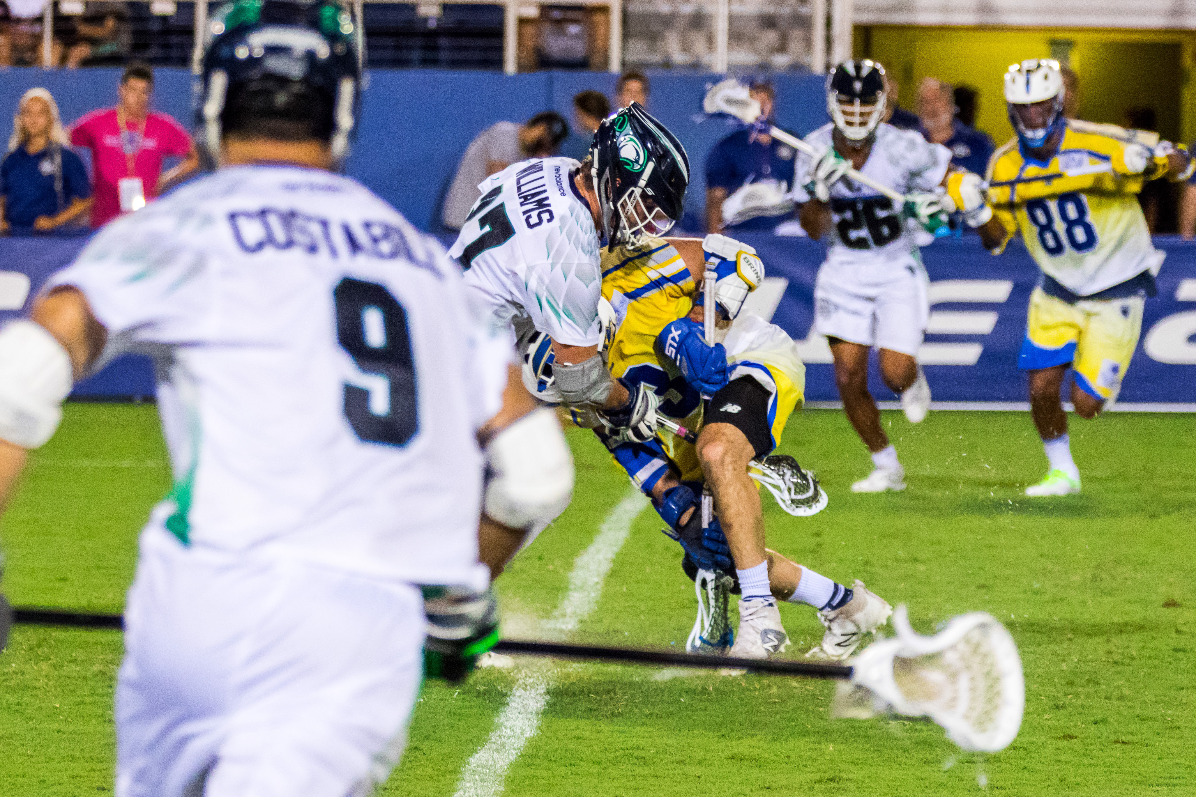 July 15, 2017; Boca Raton, FL, USA; Chesapeake Bayhawks @ Florida Launch at FAU Stadium. Photography Credit: Lawrence Ream