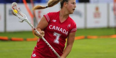Canadian attacker Tessa Chad (Orono, Ont.) during her team's 18-5 win over Japan on July 28, 2017 at The World Games in Wroclaw, Poland. (Photo Credit: Shutterlax.com, Marek Stor Photography)