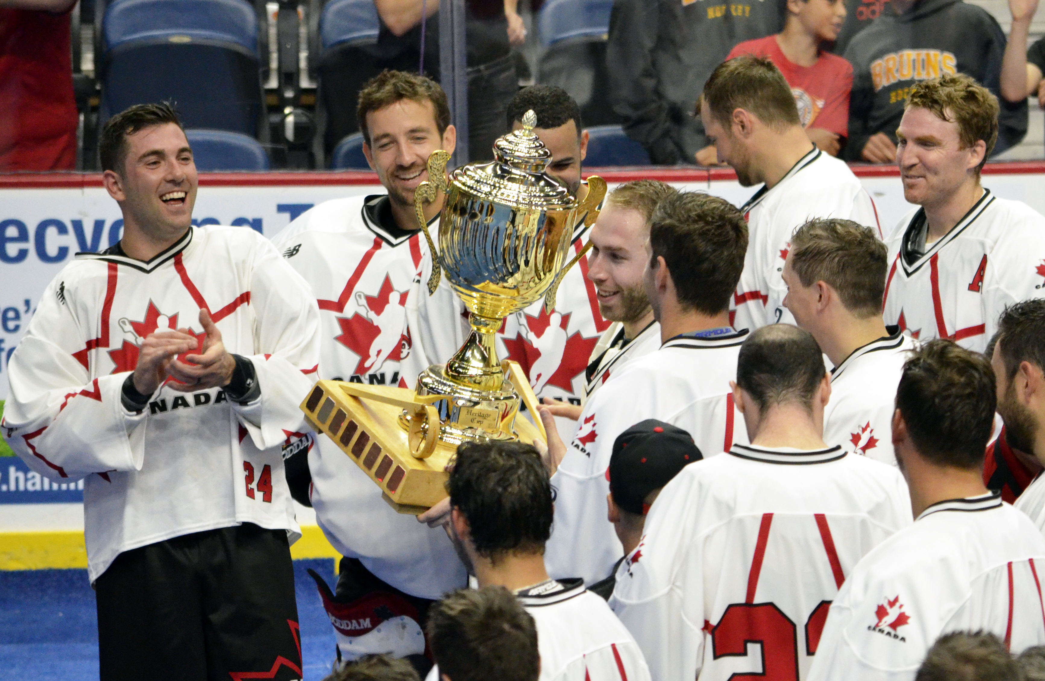 Ryan Dilks of Team Canada is all smiles after winning the 2017 Heritage Cup in Hamilton, Ont. (Photo credit: Anna Taylor)