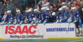 NLL: Knighthawks rough up Calgary 17-6
